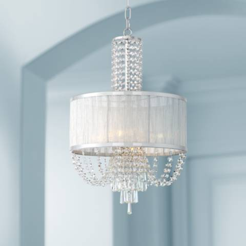 Ellisia 15 3 4 Quot Wide Chrome And Crystal Pendant Light