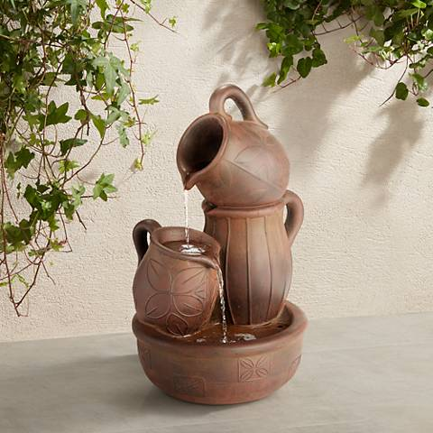 "Water Jug 24"" High Rust Indoor/Outdoor Fountain"