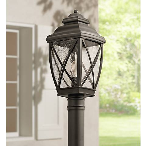 Kichler tangier 19 3 4 high olde bronze outdoor post light