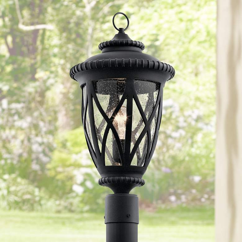 "Kichler Admirals Cove 20 3/4"" High Black Outdoor Post Light"