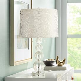 Crystal Contemporary Pull Chain Table Lamps Lamps Plus
