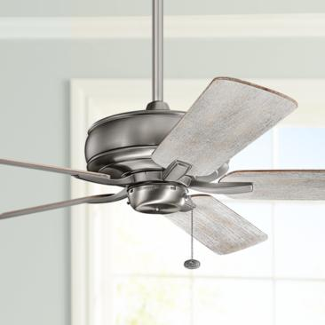"52"" Kichler Terra Burnished Antique Pewter Ceiling Fan"