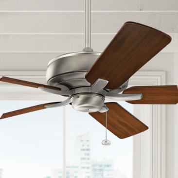 "52"" Kichler Terra Brushed Nickel Ceiling Fan"