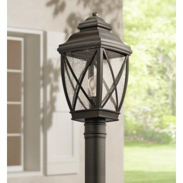 "Kichler Tangier 19 3/4"" High Olde Bronze Outdoor Post Light"