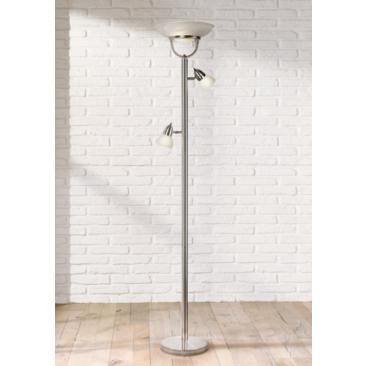 3-in-1™ Brushed Nickel Modern Torchiere Floor Lamp