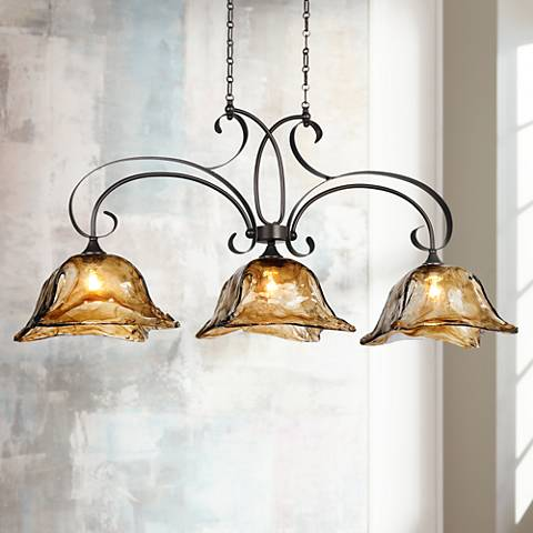 "Uttermost Vetraio Collection 47"" Wide Island Chandelier"