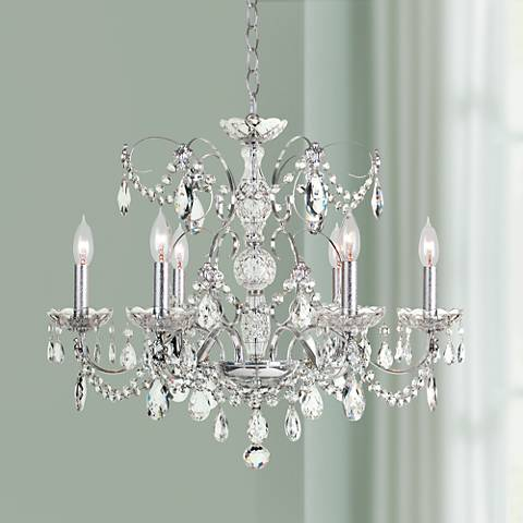 "Schonbek Heritage Crystal 24"" Wide 6-Light Chandelier"