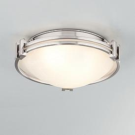 Possini Euro Deco 12 3 4 Wide Brushed Nickel Ceiling Light