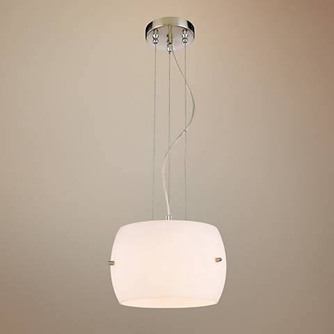 "George Kovacs 12"" Wide White Frosted Glass Mini Pendant"