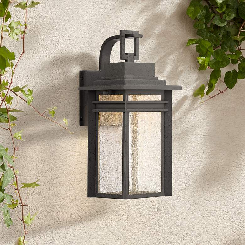 "Quoizel Beacon 12 3/4"" High Black LED Outdoor Wall Light"