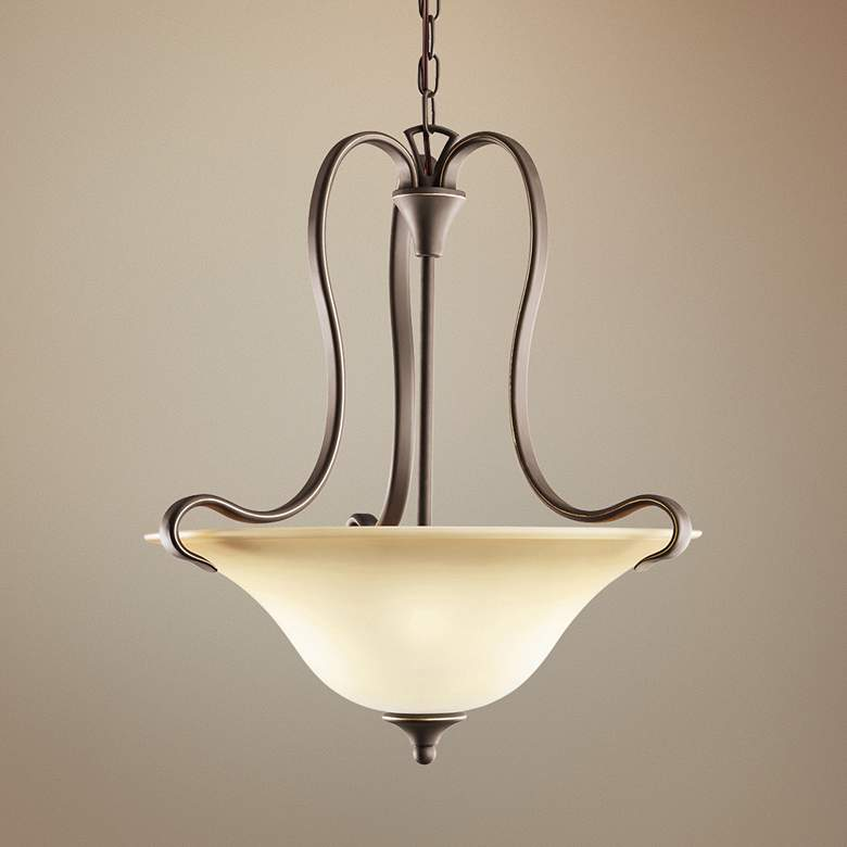 "Kichler Wedgeport 19 1/4""W LED Olde Bronze 2-Light Pendant"