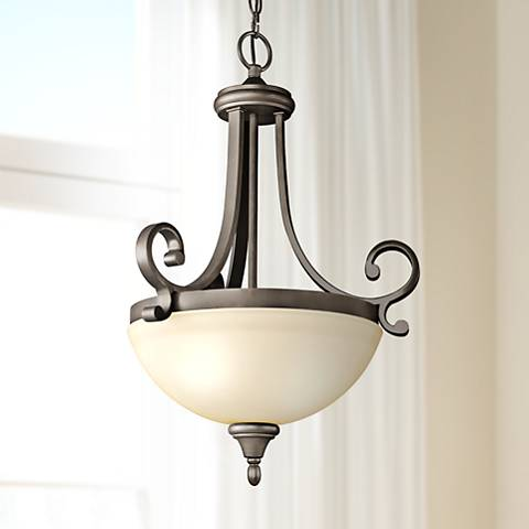 "Kichler Monroe 17 1/2"" Wide LED Olde Bronze 2-Light Pendant"