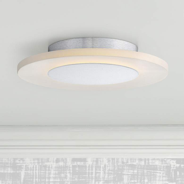 "Platinum Collection Aglow 11 3/4""W White LED Ceiling"