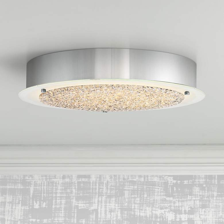 "Platinum Collection Blaze 16"" Wide Chrome LED Ceiling"