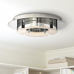 "Platinum Lunette 11 3/4"" Wide Chrome LED Ceiling Light"