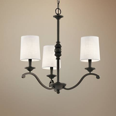"Kichler Versailles 23"" Wide Olde Bronze 3-Light Chandelier"