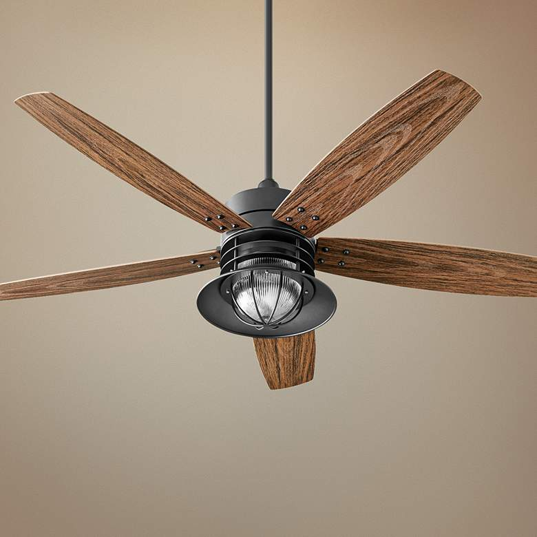 60 Quorum Portico Noir Patio Ceiling Fan 18k84 Lamps Plus