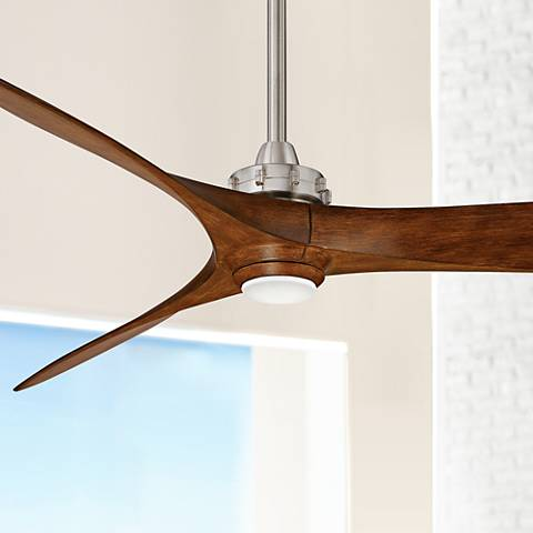 "60"" Minka Aire Aviation Nickel and Koa LED Ceiling Fan"