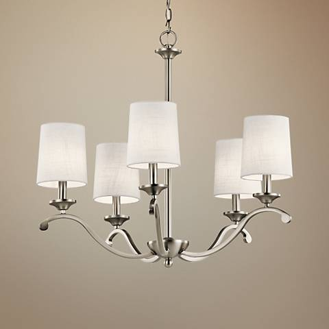 "Kichler Versailles 26 1/4"" Wide Pewter 5-Light Chandelier"