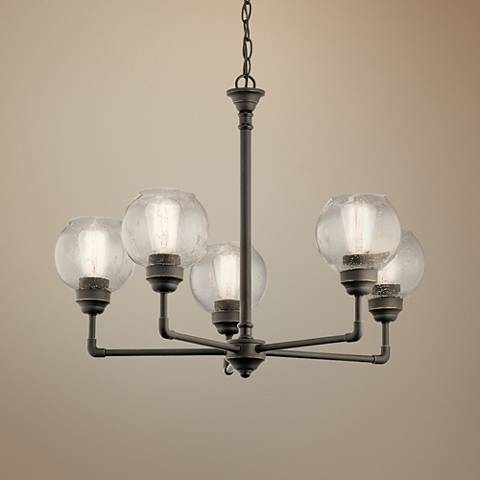 "Kichler Niles 26"" Wide Olde Bronze 5-Light Chandelier"