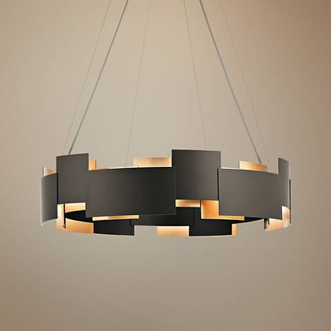 "Kichler Moderne 26 1/2"" Wide LED Olde Bronze 2-Light Pendant"