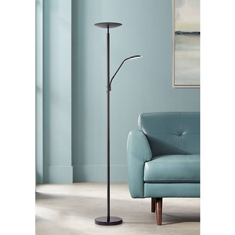 Decker Black LED Reading and Floor Lamp