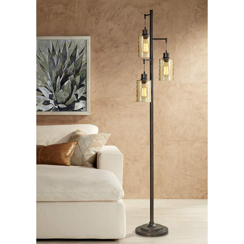 Oren Bronze Metal Floor Lamp