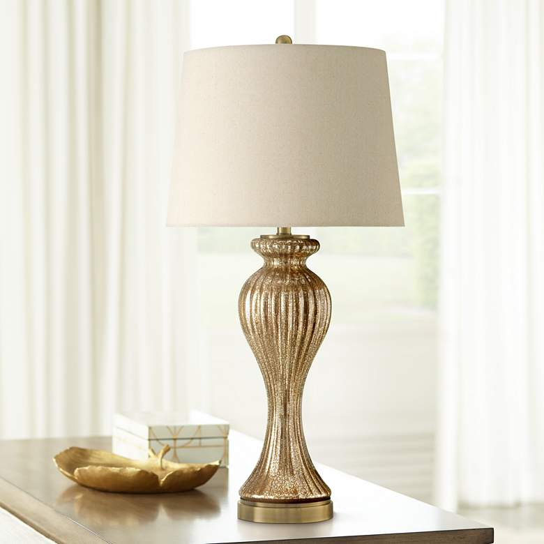 Idina Gold Glass Table Lamp