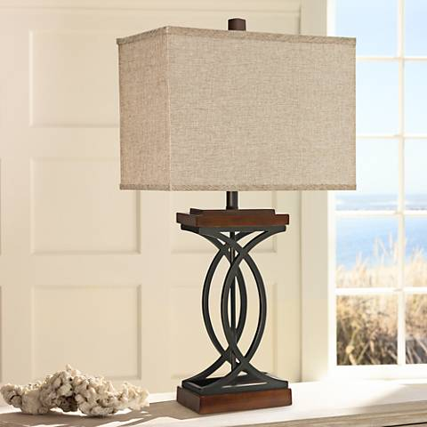 Haven Brown Curved Base Table Lamp