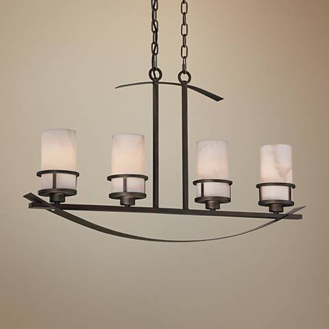 "Kyle 32 1/2"" Wide Iron Gate 4-Light Island Chandelier"