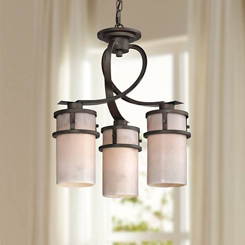"Quoizel Kyle 17"" Wide Iron Gate 3-Light Chandelier"