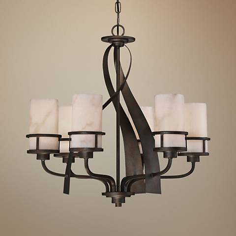 "Quoizel Kyle 23"" Wide Iron Gate 6-Light Chandelier"