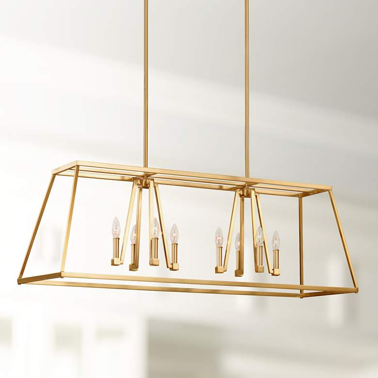 "Conant 48"" Wide Satin Brass Kitchen Island Light"