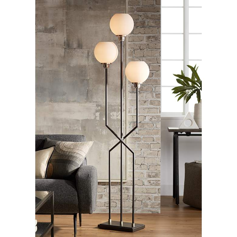 Boulevard Gunmetal 3-Light Modern Floor Lamp
