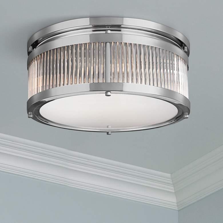 """Feiss Paulson 15"""" Wide 3-Light Chrome Ceiling Light"""
