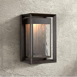 "Feiss Urbandale 13""H Antique Bronze LED Outdoor Wall Light"
