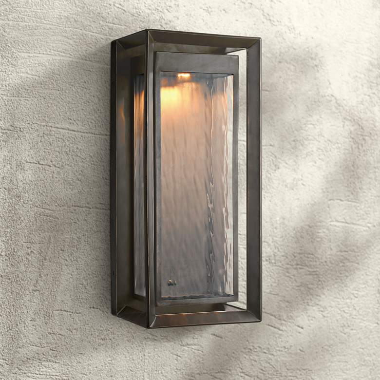 "Feiss Urbandale 23""H Antique Bronze LED Outdoor Wall Light"