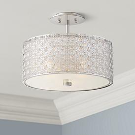 Chrome Quoizel Semi Flush Mount