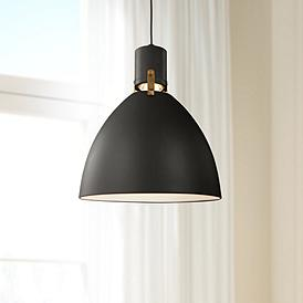 Feiss Brynne 14 W Matte Black Led Pendant Light