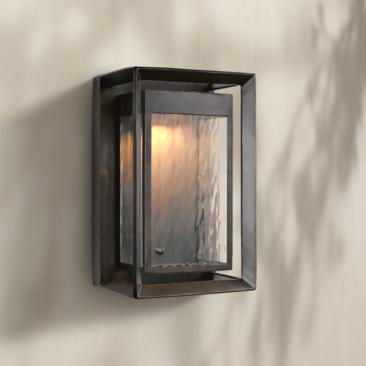 "Urbandale 16 1/4"" High Antique Bronze LED Outdoor Wall Light"