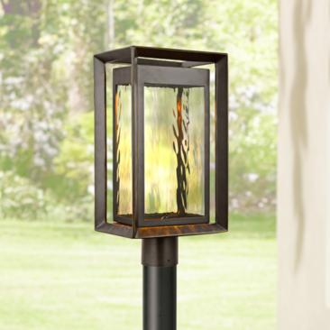 "Urbandale 18 3/4"" High Antique Bronze LED Outdoor Post Light"