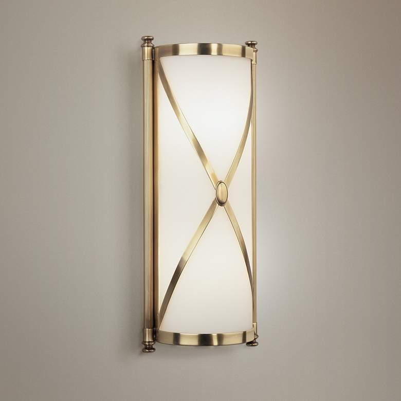 """Robert Abbey Drexel 16 3/8"""" High Brass ADA Wall Sconce"""