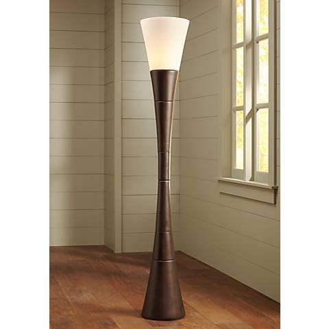 Possini Euro Design Urban Coffee Torchiere Floor Lamp