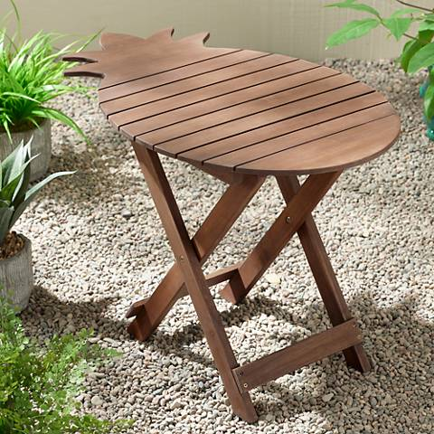 Monterey Pineapple Natural Wood Outdoor Folding Table