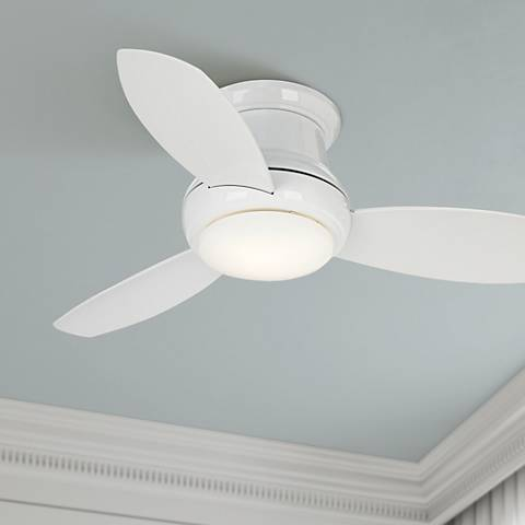 "44"" Concept II White Flushmount LED Ceiling Fan"