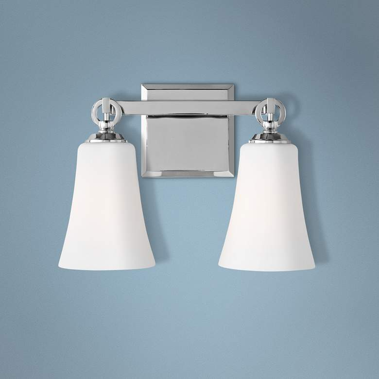 "Feiss Monterro 9 1/2"" High 2-Light Opal Chrome"