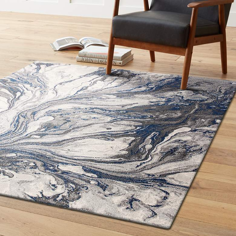 "Illusions 6202 5'3""x7'7"" Gray Area Rug"