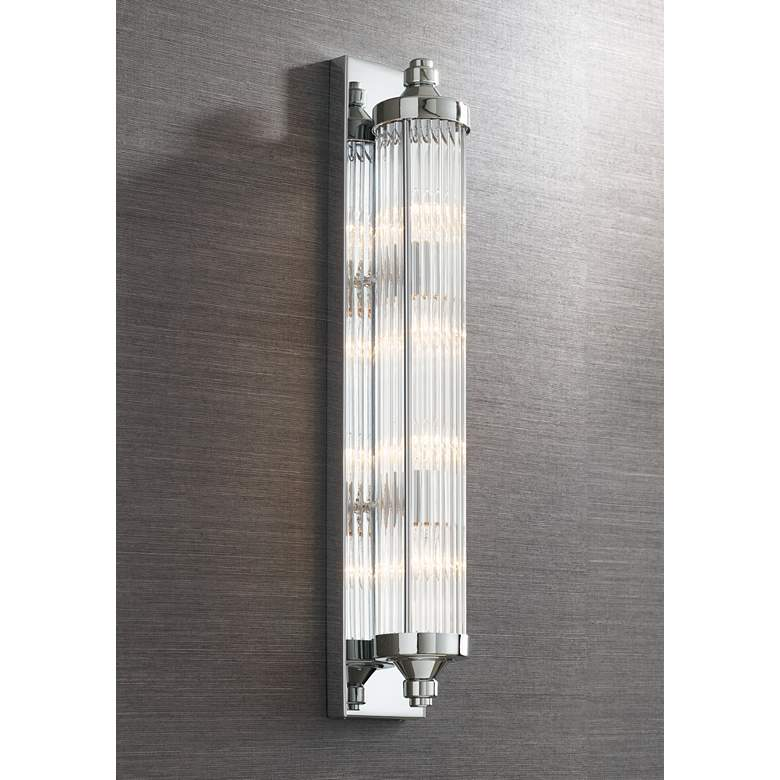 "Feiss Paulson 29"" High Chrome 4-Light Wall Sconce"