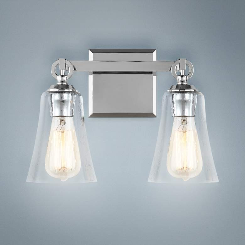 "Feiss Monterro 9 1/2"" High 2-Light Chrome Wall"