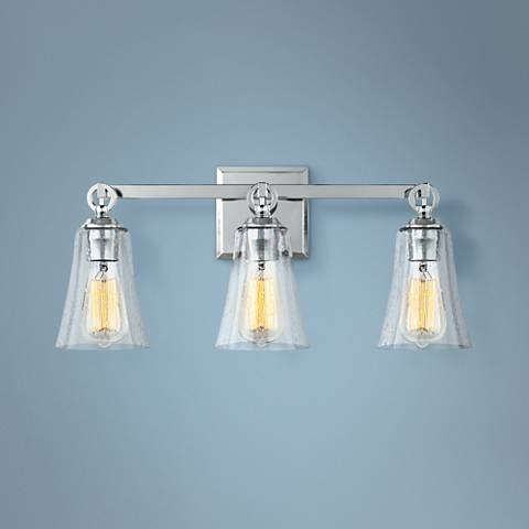 "Feiss Monterro 21 3/4"" Wide 3-Light Chrome Bath Light"